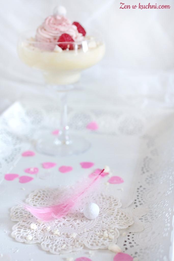 deser z białej czekolady