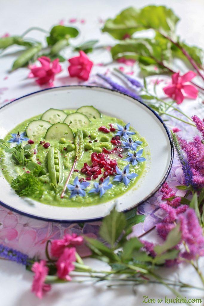 chłodnik z zielonego groszku