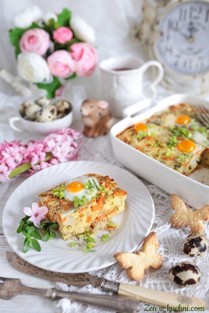 zapiekanka z kalafiora z jajkiem