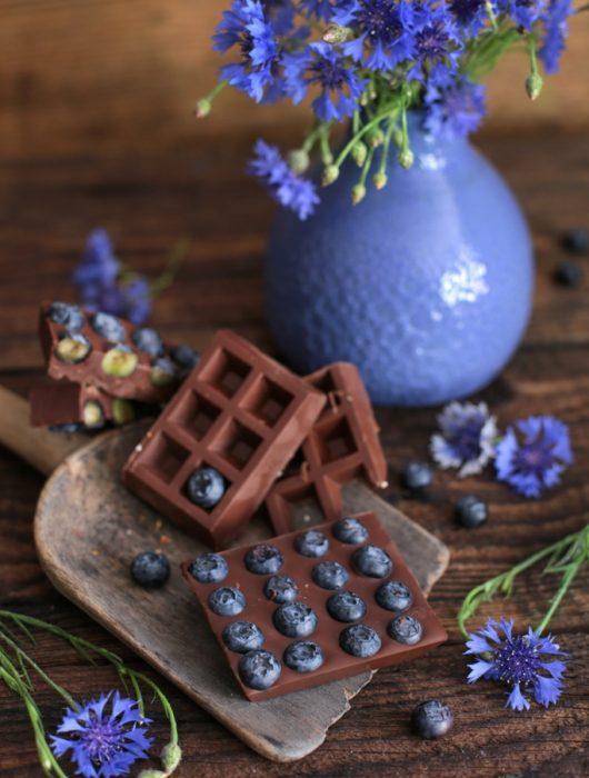 czekolada z borówkami