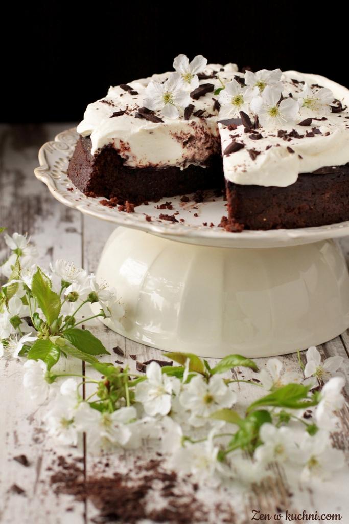 ciasto czekoladowe z kremem bez glutenu