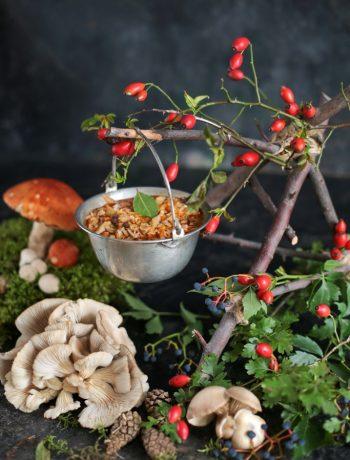 wegańskie flaczki z boczniaków
