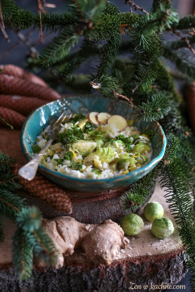risotto w sosie imbirowym