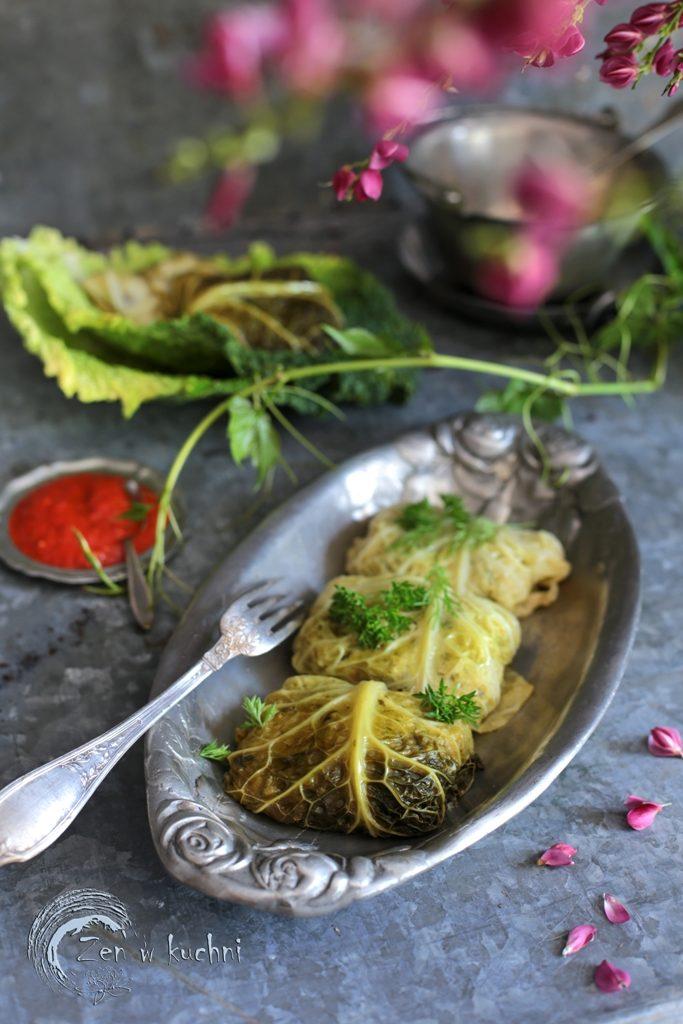 gołąbki wegetariańskie z ryżem