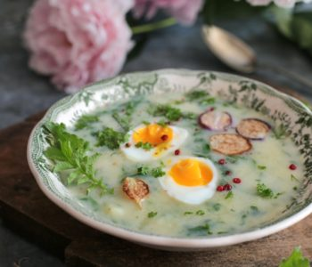 zupa z liści rzodkiewki
