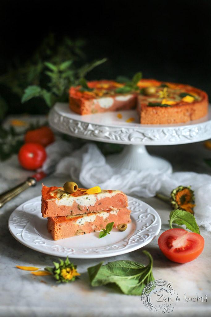 tarta z pomidorami i serem ricotta