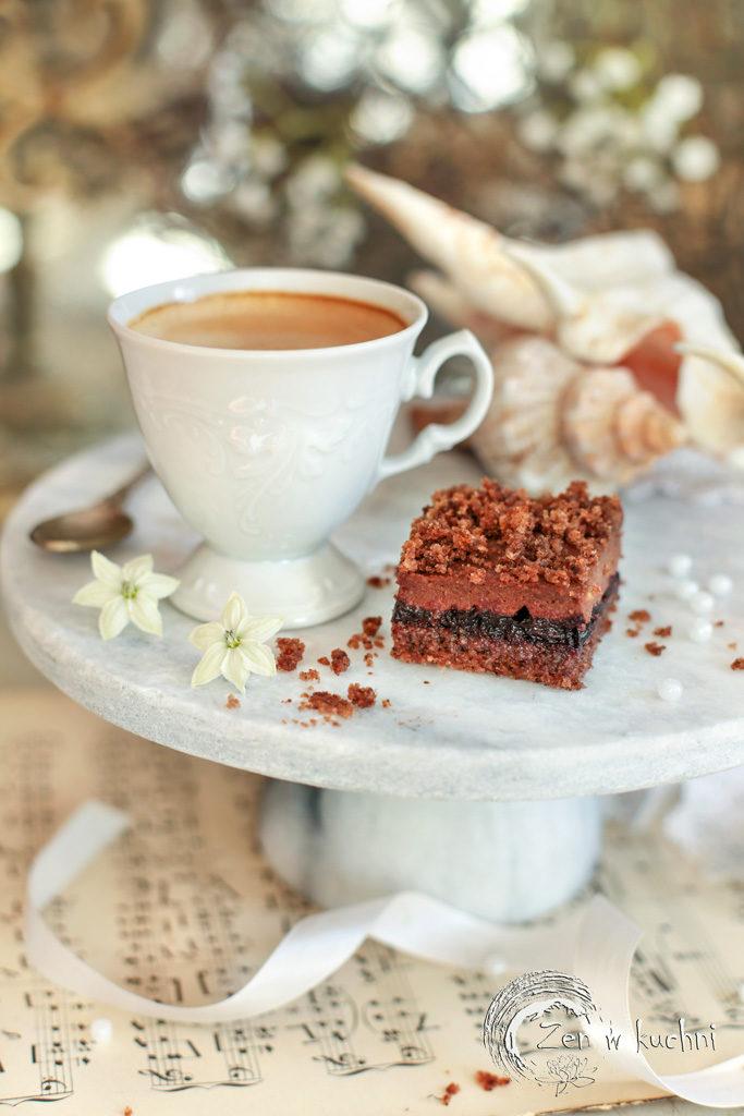 ciasto z kremem czekoladowym bez mąki i mleka