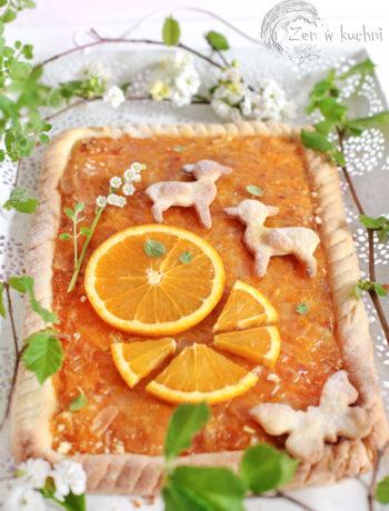 mazurek pomarańczowy z migdałami