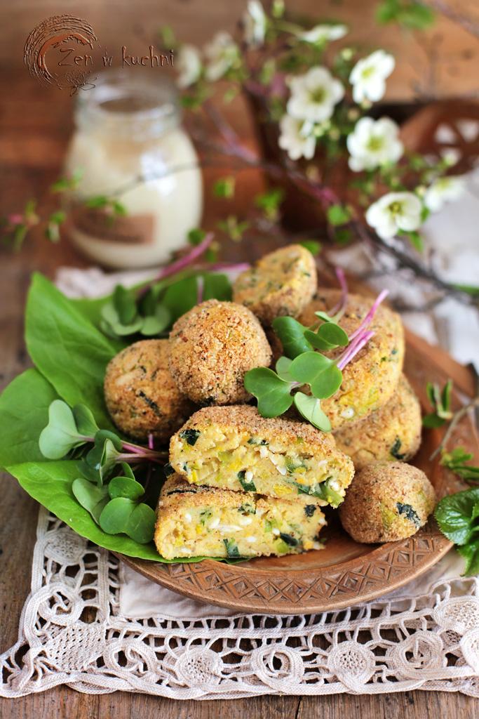 kotlety ziemniaczane z jajkiem i chrzanem
