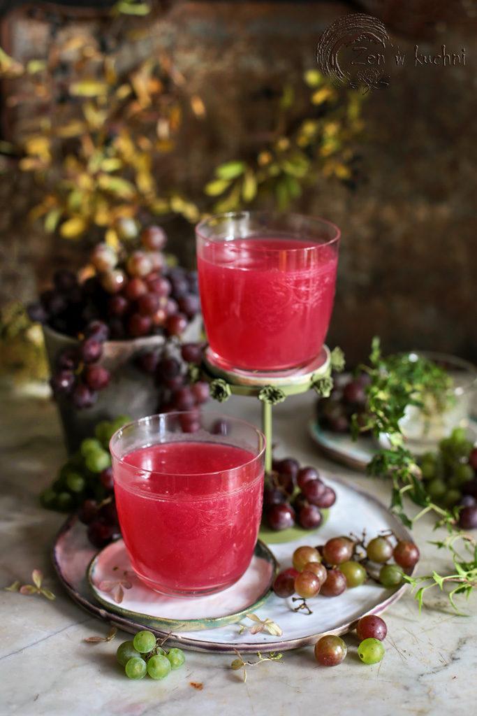 domowy kisiel z winogron