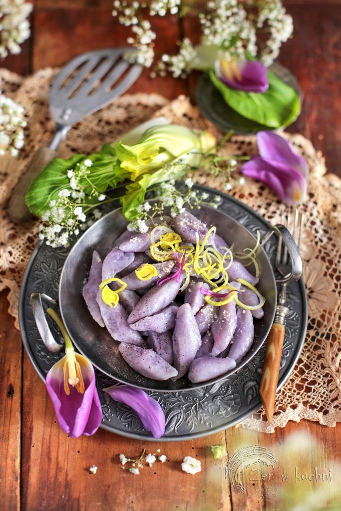 fioletowe kopytka