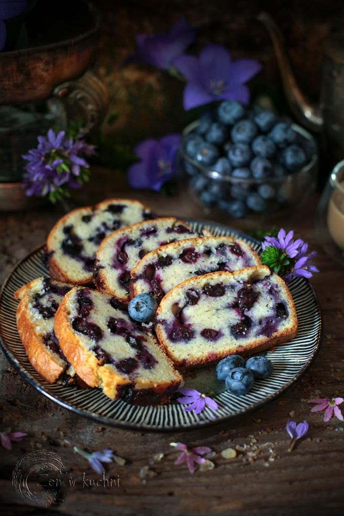 łatwe ciasto z borówkami